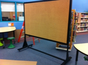 Blank slate...we found this at our school in an old storage room. Lucky find!